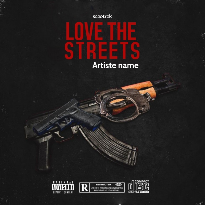 love the strees - CD COVER - Instagram-opslag template