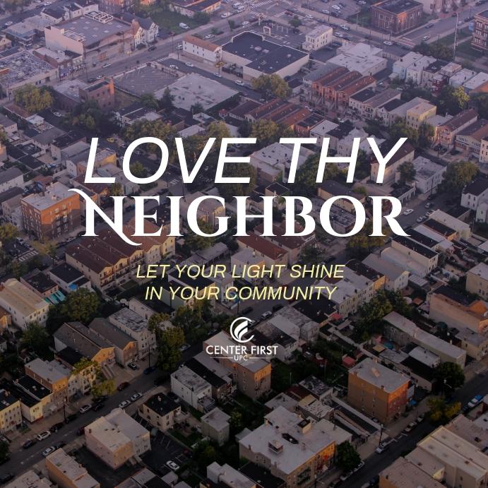 Love Thy Neighbor Instagram-opslag template