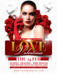 LOVE VALENTINES Flyer Template Pamflet (Letter AS)