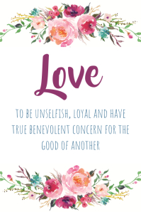 Love Watercolor Wreath Print Poster template