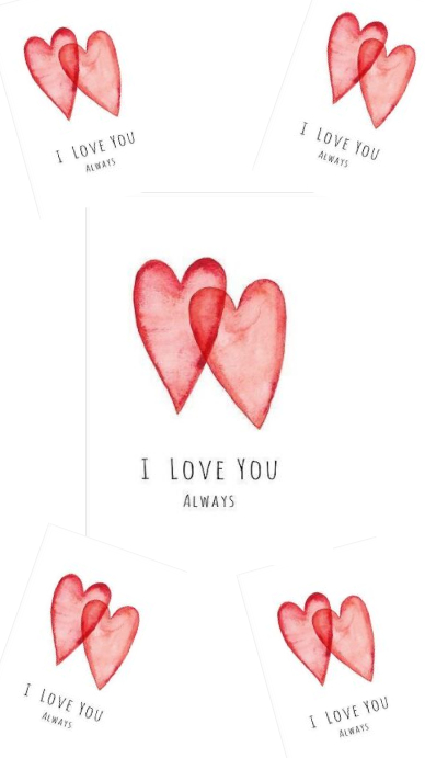 Love you! Instagram Story template