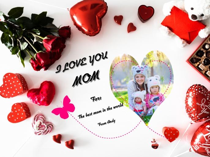 love you Mom Presentation template
