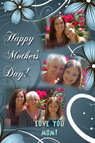 Love You Mom Poster Template