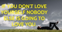 LOVE YOURSELF QUOTE TEMPLATE Iklan Facebook