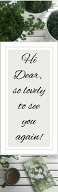 Lovely bookmark Halv side Legal template