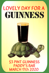 Lovely Day For a Guinness Poster Template