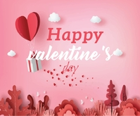 Lovely Happy Valentine's Day Persegi Panjang Sedang template