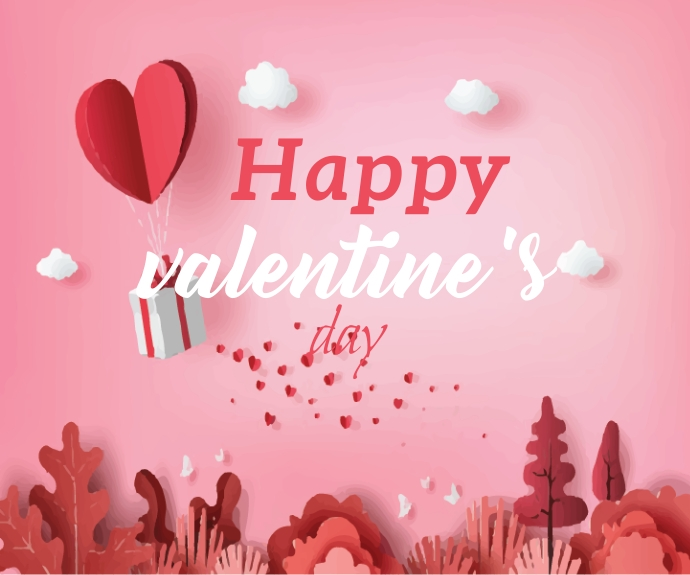 Lovely Happy Valentine's Day Middelgrote rechthoek template