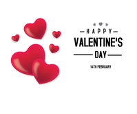 Lovely Happy Valentine's Day Rettangolo medio template