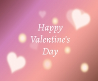 Lovely Happy Valentine's Day Medium Rectangle template