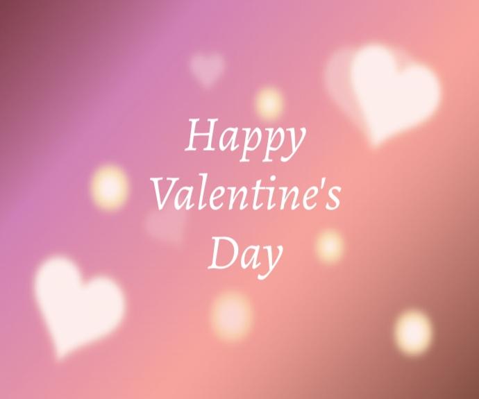 Lovely Happy Valentine's Day Mittelgroßes Rechteck template