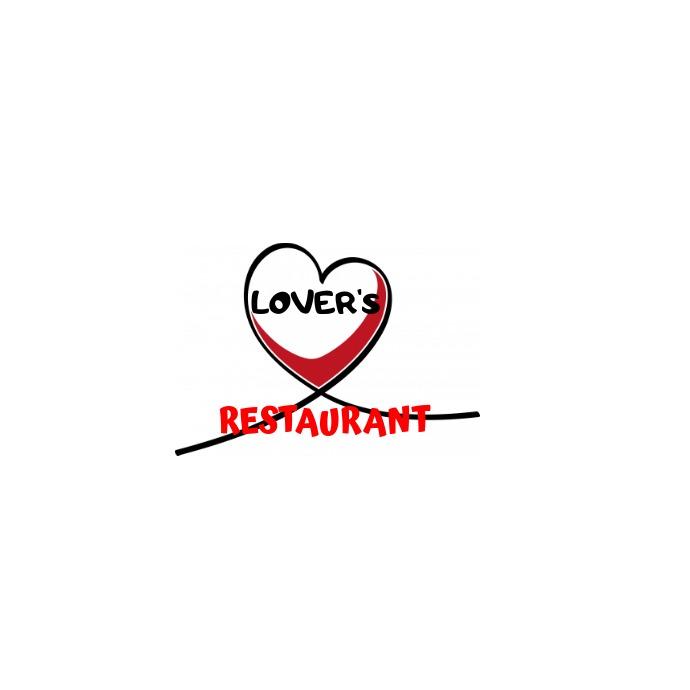 lovers restaurant Logo template