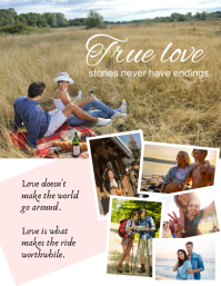 Loving couple family collage Flyer (US Letter) template