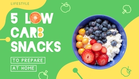 Low Carb Snacks Diet Blog Post Header Blogkop template