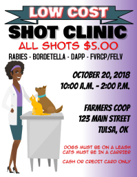 Low Cost Shot Clinic Flyer