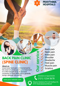 Lower back pain A4 template