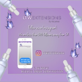 LTW Promotion Flyer Instagram Post template