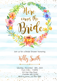Luau bridal shower party invitation