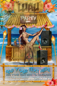 Luau Pin Up Beach Summer Fiesta Hawaiian Tropical Party