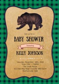 Lumberjack baby shower invitation