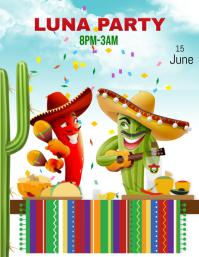 Luna Party Flyer (US Letter) template