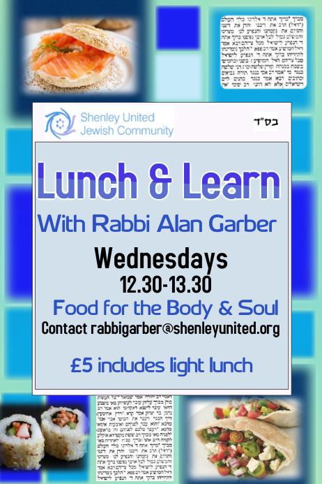 lunch  u0026 learn shiur lecture torah template