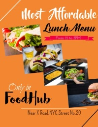 Lunch Menu Flyer (US Letter) template