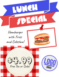 Lunch Special Diner Flyer
