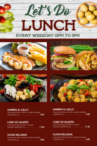 Lunch Special Poster Template Digitale Vertoning (9:16)