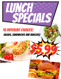 Lunch Special Restaurant Flyer