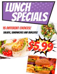 Lunch Special Restaurant Flyer