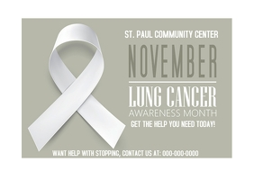 Lung Cancer Awareness Month Stop smoking Postal template