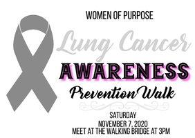 lung cancer awareness prevention walk Открытка template