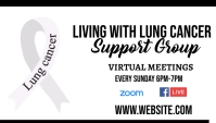 Lung Cancer Awareness Support group Business Card template