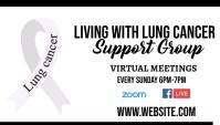 Lung Cancer Awareness Support group Besigheidskaart template