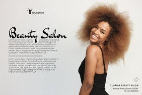 luxury beauty salon flyer template landscape skin treatment lilac light purple