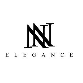 luxury black and white double n logo