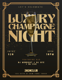 LUXURY CHAMPAGNE NIGHT Flyer Template