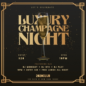 LUXURY CHAMPAGNE NIGHT Instagram Instagram-Beitrag template
