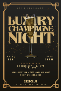 LUXURY CHAMPAGNE NIGHT Poster Template