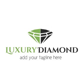 luxury diamond jewelry logo template