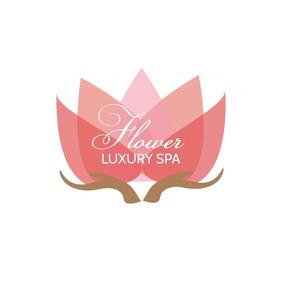 Luxury Flower Spa logo design Template