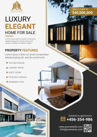 luxury home for sale A4 template