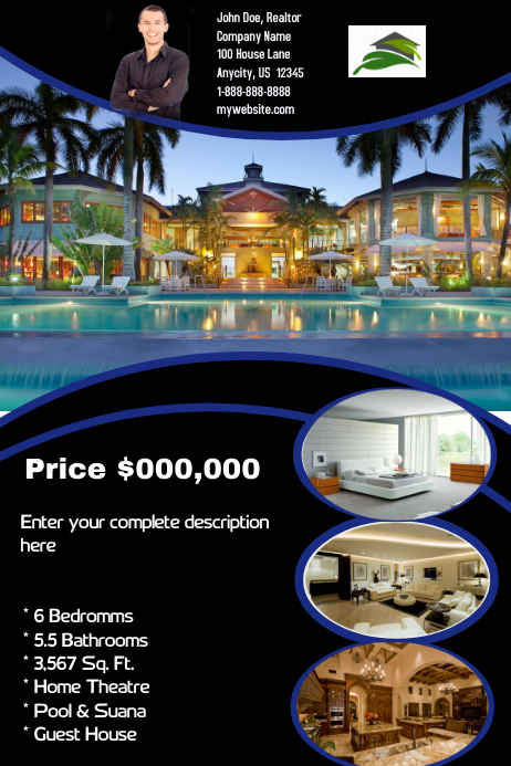 copy of luxury home for sale flyer