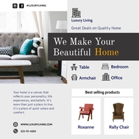 Luxury Home Furniture Advertisement Iphosti le-Instagram template