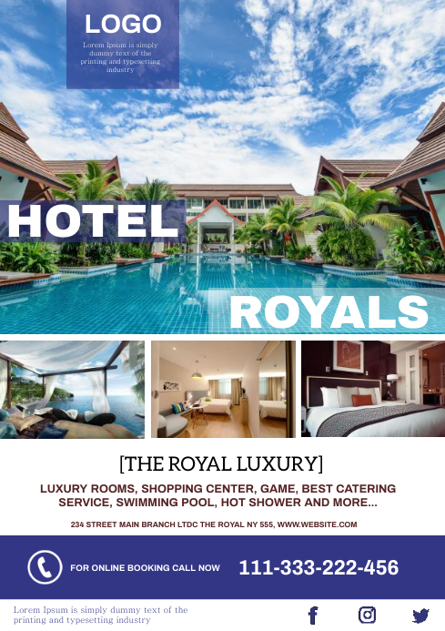 luxury hotel A4 template