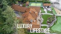 Luxury lifestyle house beautiful nature video YouTube-thumbnail template