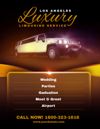 Luxury Limousine Service Flyer Poster Template