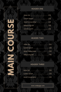 Luxury Menu Template