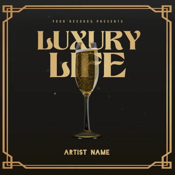 LUXURY Mixtape/Album Cover Art Instagram-bericht template